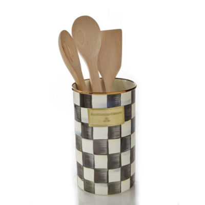 Mackenzie Childs Check Utensil Holder