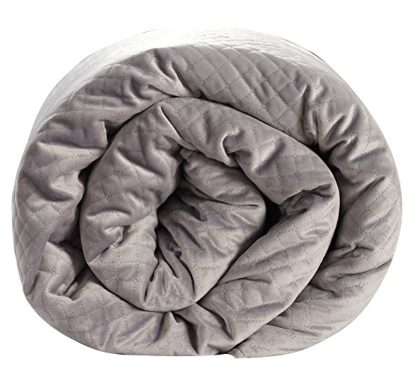 A weighted blanket is a polite way to tell your loved ones to chill the hell out.