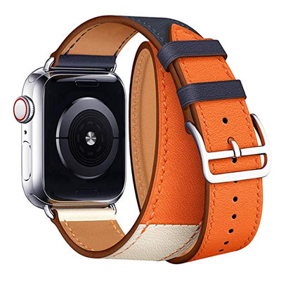 Double Loop Leather Band