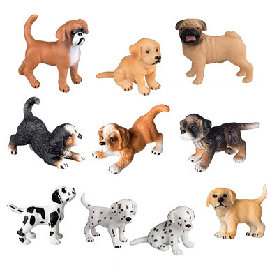 10PCS Dog Figurines Playset