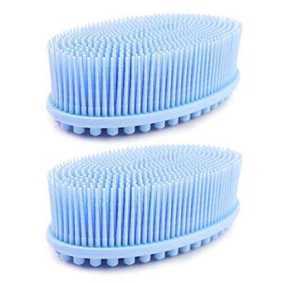 (2 pack blue) Loofah Exfoliating Body Scrubber