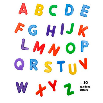 36 MAGNETIC UPPERCASE ALPHABET LETTERS