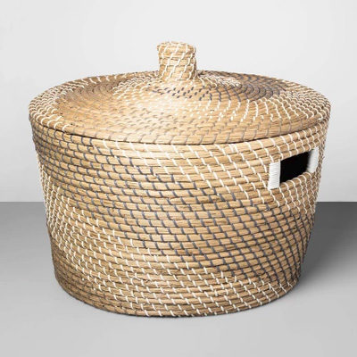 Decorative Coiled Basket with Lid