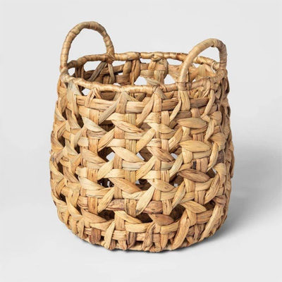 Decorative Open Weave Basket Natural