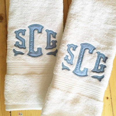 Monogram Applique Hand Towel