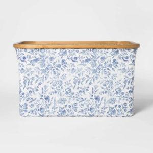 Soft Sided Laundry Basket With Bamboo Rim