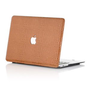 Brown Faux Crocodile MacBook Case