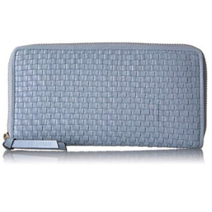 Cole Haan Bethany Woven Leather Zip Around Wallet