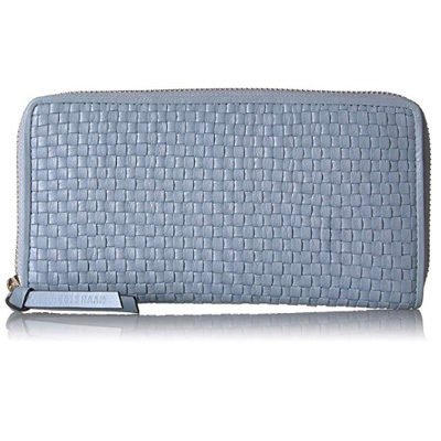 Bethany Woven Leather Zip Around Wallet