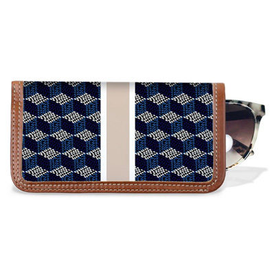 Eyeglass Case – Monogram Stripe