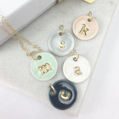 Personalized Charms Initial Delicate Necklace