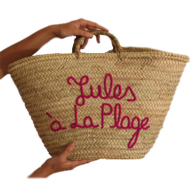 Personalized Straw Moroccan Basket