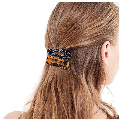 Acrylic Resin Hair Clips Geometric Alligator Barrettes