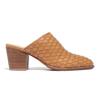 The Harper Mule in Woven Leather
