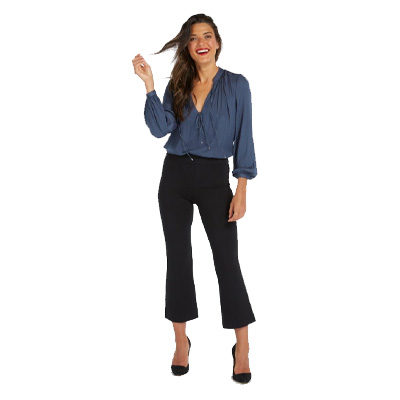 The Perfect Black Pant, Cropped Flare