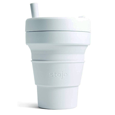 Collapsible Coffee Reusable to Go Pocket Size Travel Cup with Straw