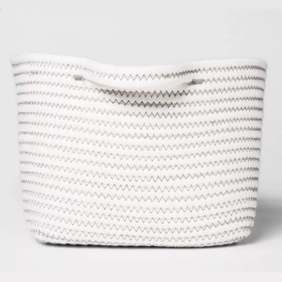 Bath Basket Small Crate Off White