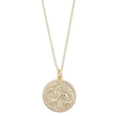 Chinese Zodiac Coin Necklace in Gold