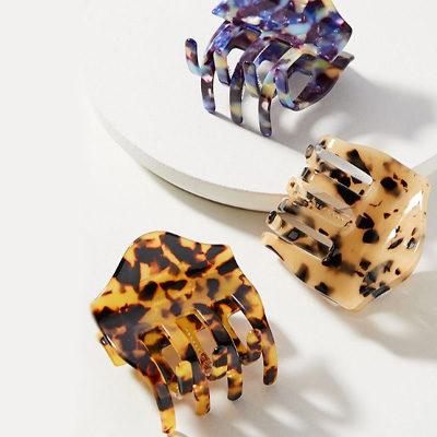 Eloise Tortoise Hair Clip Set