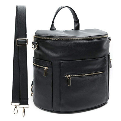 Leather Diaper Bag Backpack