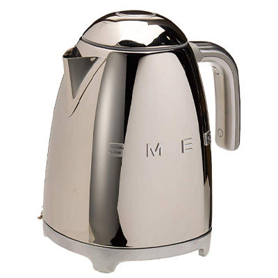 Smeg 50's Retro Style Electric Kettle, Polished Stainless Steel
