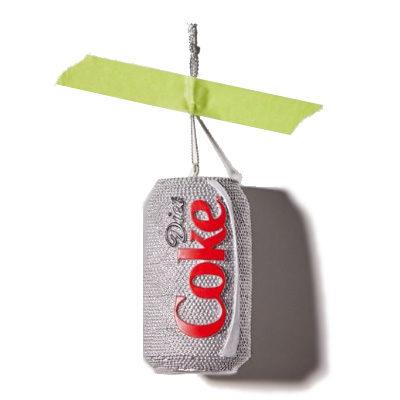 Sparkle Diet Coke Christmas Ornament