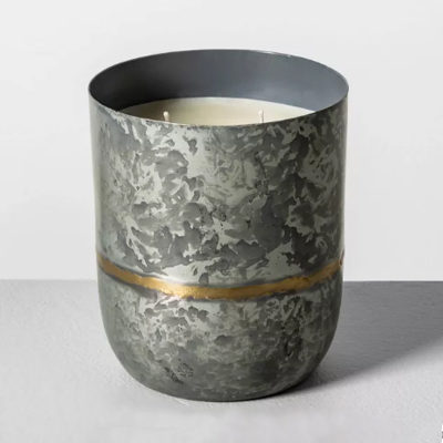 25oz Galvanized Container Candle Fireside