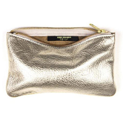 MAE Gold Leather Pouch