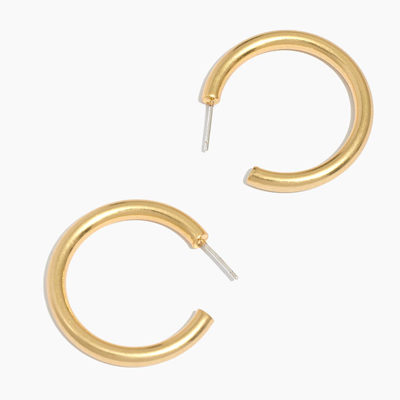 Medium Chunky Hoop Earrings