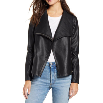 Up to Speed Faux Leather Moto Jacket