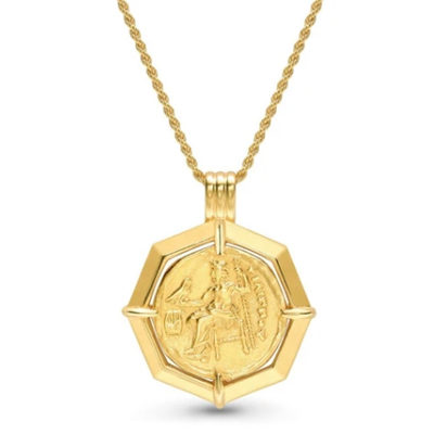Lucy Williams Gold Octagon Medallion Necklace