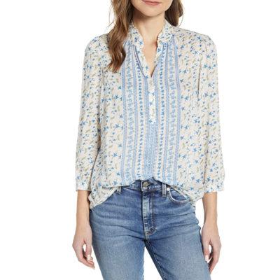 Megan Floral Popover Shirt