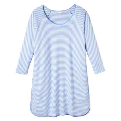 Pima Long Sleeve Nightgown in Hydrangea