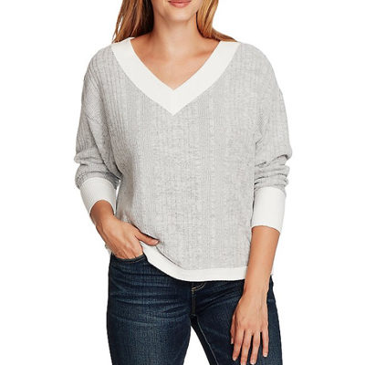 Vince Camuto Long Sleeve Ribbed Pullover Knit Top