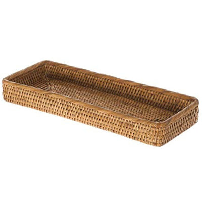 La Jolla Elongated Rattan Vanity Tray