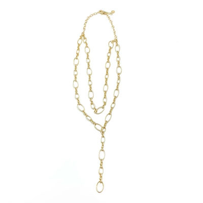 Double Oval Chain Lariat