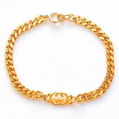 Small Vintage Gold Repurposed Gucci Charm Bracelet