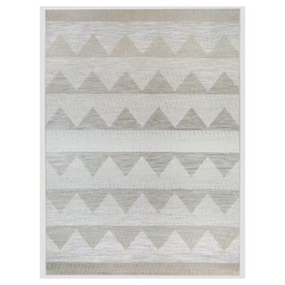 Triangle Outdoor Rug Ombre Beige